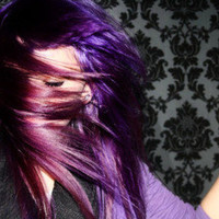 P E G A S U S   purple/ solid colored/ human hair extension/ clip-in hair/ dip dye ombre/ full set (10) hair extensions/ READY to SEND