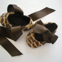 Baby shoes, first size, animal print, soft shoe, cute, ribbon ties, brown,baby girl shoes, mary janes, bootees, sample price
