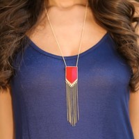 Treats & Trinkets Necklace-Red