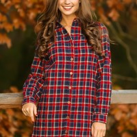 Kindness Is Key Tunic-Navy