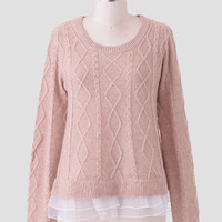 Songs About You Knit Sweater In Beige