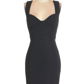ModCloth LBD Mid-length Sleeveless Bodycon All the Vixens Dress