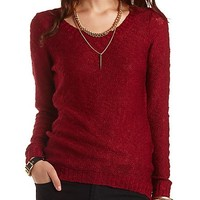 Slub Knit Tunic Sweater by Charlotte Russe