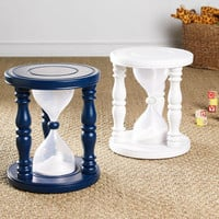Time Out Timer Stool - White | Stools & Ottomans