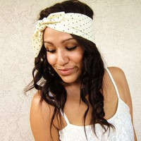 Love What's Missing | Cream Pin Dots Hair Scarf | Online Store Powered by Storenvy