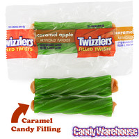 Twizzlers Caramel Apple Filled Licorice Twists: 20-Piece Bag | CandyWarehouse.com Online Candy Store