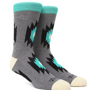 Brixton Rogue Crew Socks - Mens Socks - Grey - One