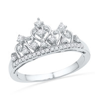 1/5 CT. T.W. Diamond Tiara Ring in Sterling Silver