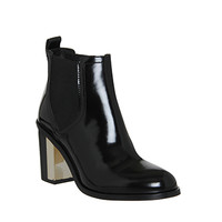 Office Clementine Chelsea Boot Black Patent - Ankle Boots