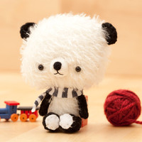Panda bear plushie - made to order -