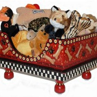 Doggie Toy Box Petite Red Bones by Jakey BB