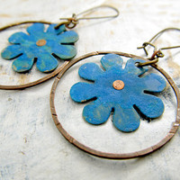 Olympian Blue earrings Bohemain earrings Bohemian jewelry Summer fashion