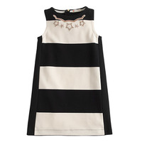 J.Crew Girls Necklace Dress In Jumbo Stripe
