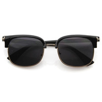 Dapper European Indie Designer Fashion Half Frame Sunglasses 8598