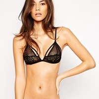 ASOS Serena Fishnet and Lace Triangle Bra