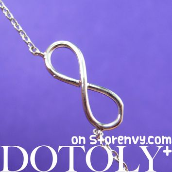 Classic Infinity Loop Promise Friendship Necklace in Silver | DOTOLY - Infinity Loop Necklace