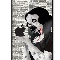 Snow White Zombie Logo On iPhone 4 Case, iPhone 4s Case, iPhone 4 Hard Case, iPhone Case-graphic Iphone case