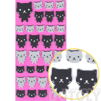 Simple Kitty Cat Animal Shaped Foam Plastic Stickers for Scrapbooking and Decorating - Kitty Cat Foam Stickers