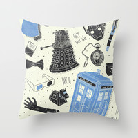 Artifacts: Doctor Who Throw Pillow by Josh Ln