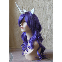 Rarity costume cosplay wig - Curly purple wig / my little pony costume / unicorn / friendship is magic