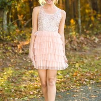 Sugar Plum Dreams Dress-Blush
