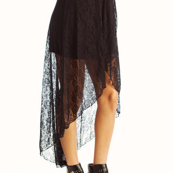 high low lace skirt black from gojane
