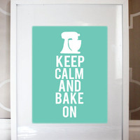 8x10 Keep Calm And Bake On Print on Luulla