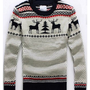 White Cotton Long Sleeve All-match Casual Knitting Sweater M/L/XL@YSPM583w