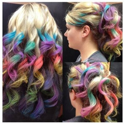 Clip In Rainbow Hair- Ombre Hair from ArtisicStrands on Etsy