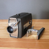 Vintage 8mm Camera / Howell and Bell / Autoload  Super 8 / Mid Century