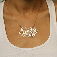 WILD THING now i know my ABC&#x27;s gold pendant by kerenasaf on Etsy