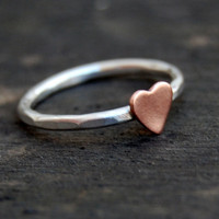 Sterling Silver Stacking Ring  - Rustic Romance - Custom Size