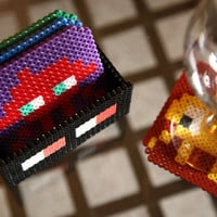 Space Invaders Coaster Set. 4 Space Invaders Coasters with Box.