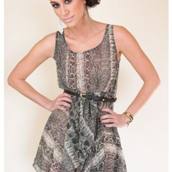 Wild Thing Snake Print Dress - New Arrivals | Sugar and Sequins
