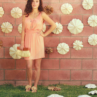 Meadow Field Dress in Apricot [3003] - $27.20 : Vintage Inspired Clothing & Affordable Summer Dresses, deloom | Modern. Vintage. Crafted.