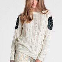 Simple Rebellion Sweater - $52.00: ThreadSence, Women's Indie & Bohemian Clothing, Dresses, & Accessories