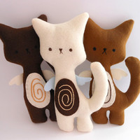 Kitty Cat Plush - Coffee Set of 3 stuffed and soft toys