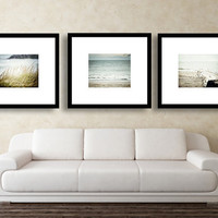SAVE 20% - Beach Decor Wall Gallery Set of 3 8x10. Discounted Set. Sale Price. Water, Ocean Decor, Shore, Coastal Decor, Blue, Aqua, Teal.