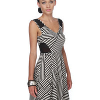 Unique Striped Dress - Print Dress - Black and White Dress - $36.00