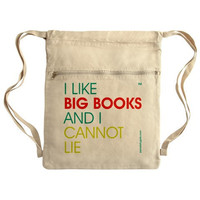 I Like Big Books And I Cannot Lie - Custom Cinch Sack Backpack Tote - FREE SHIPPING