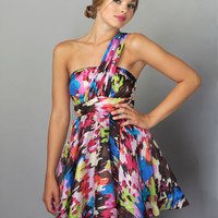 Adorable Silk Dress - Colorful Dress - $77.00