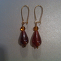 Dainty Amber Tear Drop Earrings