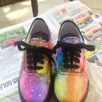 Women's Rainbow Galaxy Shoes