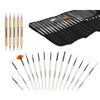 Amazon.com: Bundle Monster New Pro 20pc Nail Art Design Painting Detailing Brushes & Dotting Pen / Dotter Tool Kit Set: Beauty