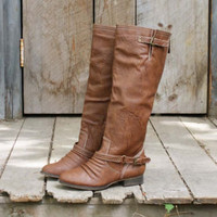 Smokestack Boots in Oak, Sweet Bohamian Shoes