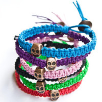 Skull Hemp Bracelet Friendship