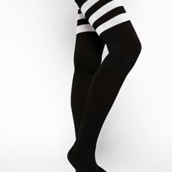 American Apparel Thigh High Striped Sock