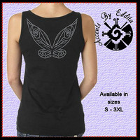 Rhinestone Fairy Wings on back of T Shirt or Tank in sizes S - 3XL inspired by Tinkerbell and all Magical Fairies