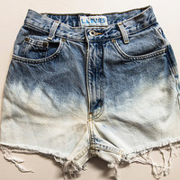 Ombre L.A. Blues High Waisted Shorts