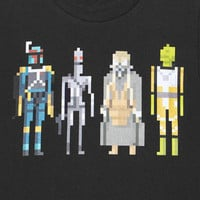 8 Bit Star Wars Bounty Hunters Men&#x27;s Tee